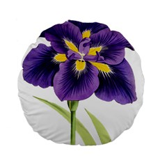 Lily Flower Plant Blossom Bloom Standard 15  Premium Flano Round Cushions by Nexatart