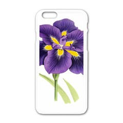 Lily Flower Plant Blossom Bloom Apple Iphone 6/6s White Enamel Case