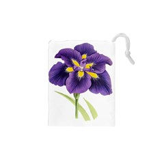Lily Flower Plant Blossom Bloom Drawstring Pouches (xs)  by Nexatart