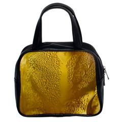 Beer Beverage Glass Yellow Cup Classic Handbags (2 Sides) by Nexatart