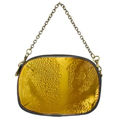 Beer Beverage Glass Yellow Cup Chain Purses (two Sides)  by Nexatart