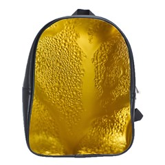 Beer Beverage Glass Yellow Cup School Bags(large)  by Nexatart