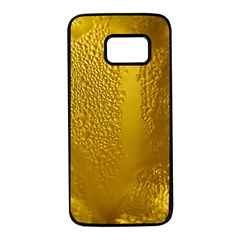 Beer Beverage Glass Yellow Cup Samsung Galaxy S7 Black Seamless Case