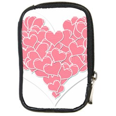 Heart Stripes Symbol Striped Compact Camera Cases by Nexatart