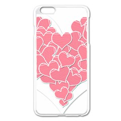 Heart Stripes Symbol Striped Apple Iphone 6 Plus/6s Plus Enamel White Case by Nexatart