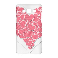 Heart Stripes Symbol Striped Samsung Galaxy A5 Hardshell Case  by Nexatart