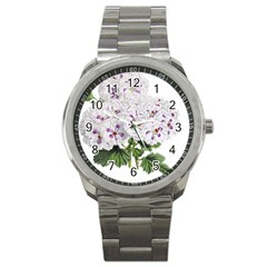 Flower Plant Blossom Bloom Vintage Sport Metal Watch by Nexatart