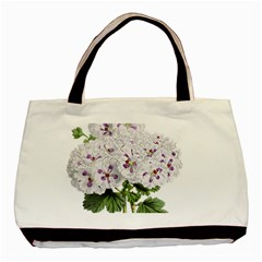 Flower Plant Blossom Bloom Vintage Basic Tote Bag (two Sides) by Nexatart