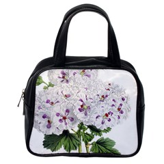 Flower Plant Blossom Bloom Vintage Classic Handbags (one Side) by Nexatart