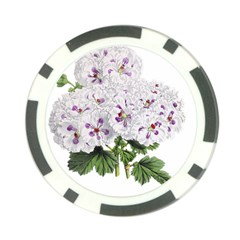 Flower Plant Blossom Bloom Vintage Poker Chip Card Guard (10 Pack) by Nexatart
