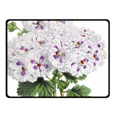 Flower Plant Blossom Bloom Vintage Fleece Blanket (small) by Nexatart