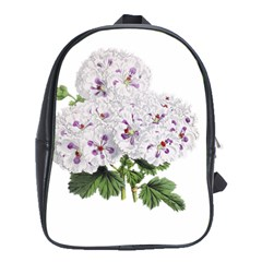 Flower Plant Blossom Bloom Vintage School Bags (xl)