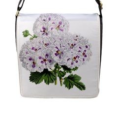 Flower Plant Blossom Bloom Vintage Flap Messenger Bag (l)