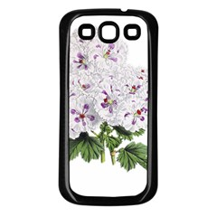 Flower Plant Blossom Bloom Vintage Samsung Galaxy S3 Back Case (black) by Nexatart