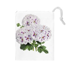 Flower Plant Blossom Bloom Vintage Drawstring Pouches (large)  by Nexatart