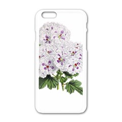 Flower Plant Blossom Bloom Vintage Apple Iphone 6/6s White Enamel Case