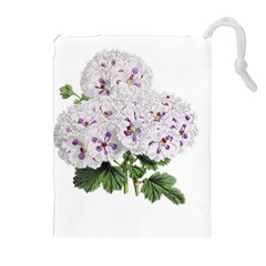 Flower Plant Blossom Bloom Vintage Drawstring Pouches (extra Large) by Nexatart
