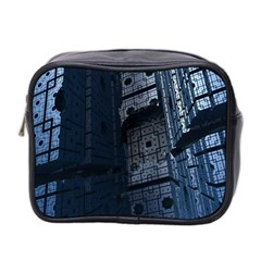 Graphic Design Background Mini Toiletries Bag 2 Side