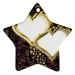Lover Romantic Couple Apart Ornament (star) by Nexatart