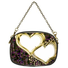 Lover Romantic Couple Apart Chain Purses (one Side)  by Nexatart