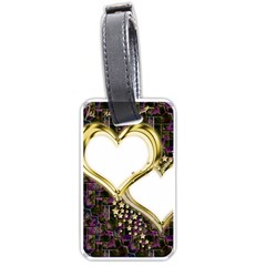 Lover Romantic Couple Apart Luggage Tags (one Side)  by Nexatart