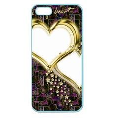 Lover Romantic Couple Apart Apple Seamless Iphone 5 Case (color) by Nexatart