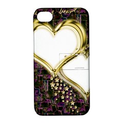 Lover Romantic Couple Apart Apple Iphone 4/4s Hardshell Case With Stand by Nexatart