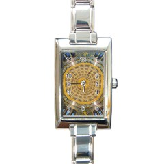 Arches Architecture Cathedral Rectangle Italian Charm Watch by Nexatart