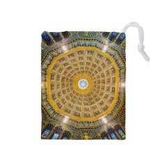 Arches Architecture Cathedral Drawstring Pouches (medium)  by Nexatart