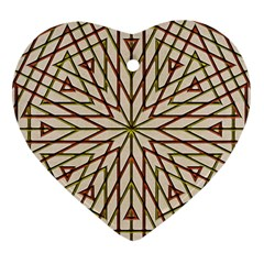 Kaleidoscope Online Triangle Heart Ornament (two Sides)