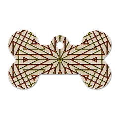 Kaleidoscope Online Triangle Dog Tag Bone (two Sides) by Nexatart