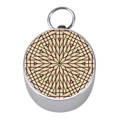 Kaleidoscope Online Triangle Mini Silver Compasses by Nexatart