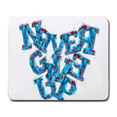 Sport Crossfit Fitness Gym Never Give Up Large Mousepads by Nexatart