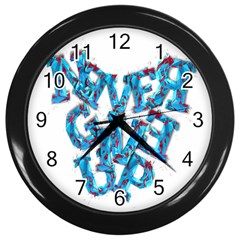Sport Crossfit Fitness Gym Never Give Up Wall Clocks (black) by Nexatart
