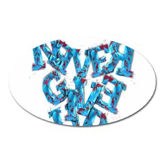 Sport Crossfit Fitness Gym Never Give Up Oval Magnet