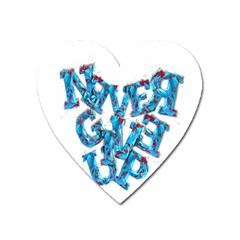 Sport Crossfit Fitness Gym Never Give Up Heart Magnet by Nexatart