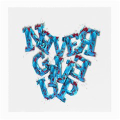 Sport Crossfit Fitness Gym Never Give Up Medium Glasses Cloth (2 Side) by Nexatart