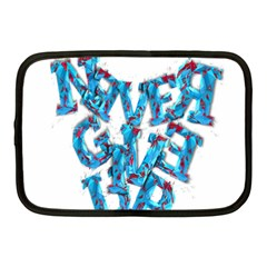 Sport Crossfit Fitness Gym Never Give Up Netbook Case (medium)  by Nexatart