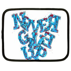 Sport Crossfit Fitness Gym Never Give Up Netbook Case (large) by Nexatart