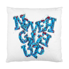 Sport Crossfit Fitness Gym Never Give Up Standard Cushion Case (one Side) by Nexatart