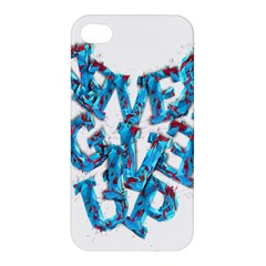 Sport Crossfit Fitness Gym Never Give Up Apple Iphone 4/4s Premium Hardshell Case by Nexatart