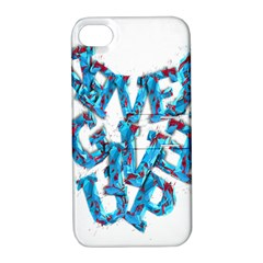 Sport Crossfit Fitness Gym Never Give Up Apple Iphone 4/4s Hardshell Case With Stand by Nexatart