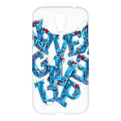 Sport Crossfit Fitness Gym Never Give Up Samsung Galaxy S4 I9500/i9505 Hardshell Case by Nexatart