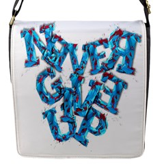 Sport Crossfit Fitness Gym Never Give Up Flap Messenger Bag (s) by Nexatart