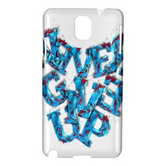 Sport Crossfit Fitness Gym Never Give Up Samsung Galaxy Note 3 N9005 Hardshell Case by Nexatart