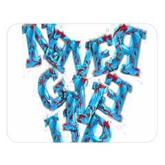Sport Crossfit Fitness Gym Never Give Up Double Sided Flano Blanket (large)  by Nexatart