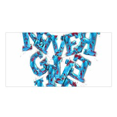 Sport Crossfit Fitness Gym Never Give Up Satin Shawl by Nexatart