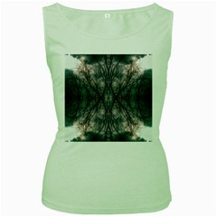 Storm Nature Clouds Landscape Tree Women s Green Tank Top