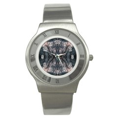 Storm Nature Clouds Landscape Tree Stainless Steel Watch by Nexatart