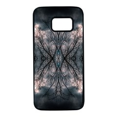 Storm Nature Clouds Landscape Tree Samsung Galaxy S7 Black Seamless Case by Nexatart